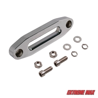 Extreme Max 5600.3096 MAGNA Polished Aluminum Universal ATV / UTV Hawse Fairlead for Synthetic Rope