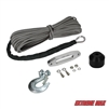 "Extreme Max 5600.3103 ""The Devil's Helper"" Complete Synthetic ATV Winch Rope Kit - Gray"