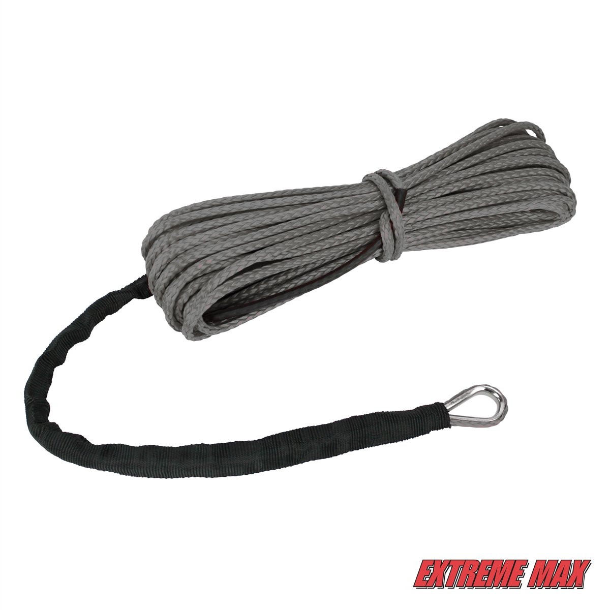 Extreme Max The Devil/'s Helper Complete Synthetic ATV WInch Rope Kit Gray