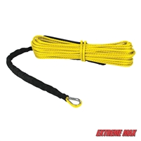 "Extreme Max 5600.3200 ""The Devil's Hair"" ATV / UTV Winch Rope - Yellow"