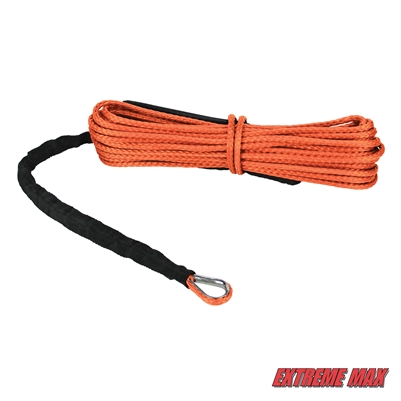 "Extreme Max 5600.3203 ""The Devil's Hair"" ATV / UTV Winch Rope - Orange"