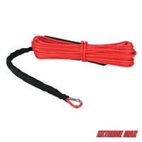 "Extreme Max 5600.3206 ""The Devil's Hair"" ATV / UTV Winch Rope - Red"