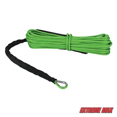 "Extreme Max 5600.3224 ""The Devil's Hair"" ATV / UTV Winch Rope - Lime Green"