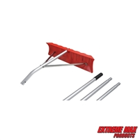 "Extreme Max 5600.3262 21' Poly Roof Rake with 23"" Blade"