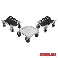 Extreme Max 5800.0225 V-Slides Snowmobile Dolly System - Natural Aluminum