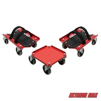 Extreme Max 5800.0228 V-Slides Snowmobile Dolly System - Steel, Red