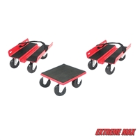 Extreme Max 5800.2000 Economy Snowmobile Dolly System - Red