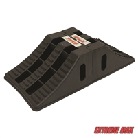 "Extreme Max 5800.5852 Heavy-Duty Interlocking Wheel Chock for Tandem Axle Trailers and RVs - 9.2"" x 8.2"" x 4.7"", Pair"